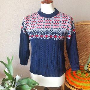 True Vintage❄️70s Ski Babe Retro Sweater!